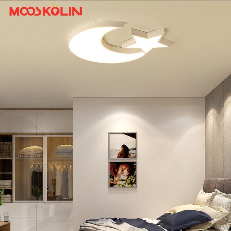 Modern LED Ceiling Lights For Kid's Bedroom Children room White five-pointed star Ceiling lamp AC96-265V Home Decoration Lamp
