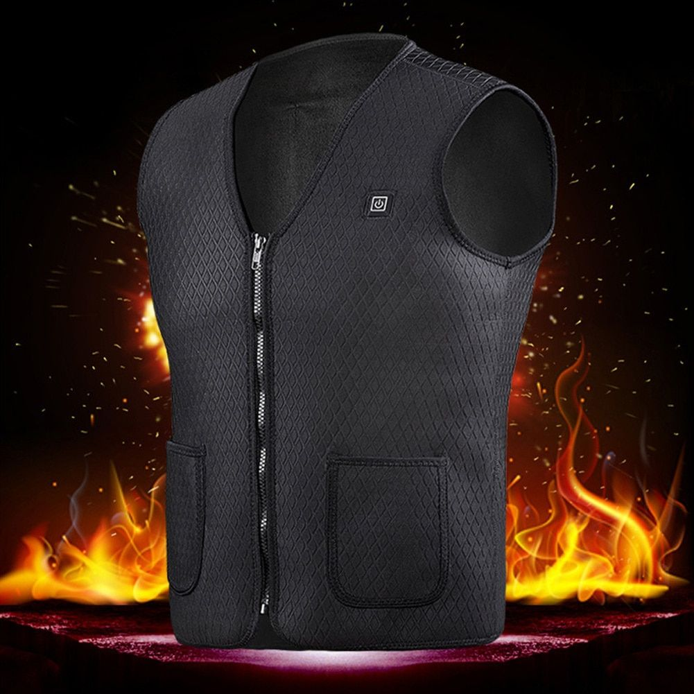 Usb Heater Hunting Vest Heated Jacket Heating Winter Clothes Men Thermal Outdoor Sleeveless Vest Hiking Climbing