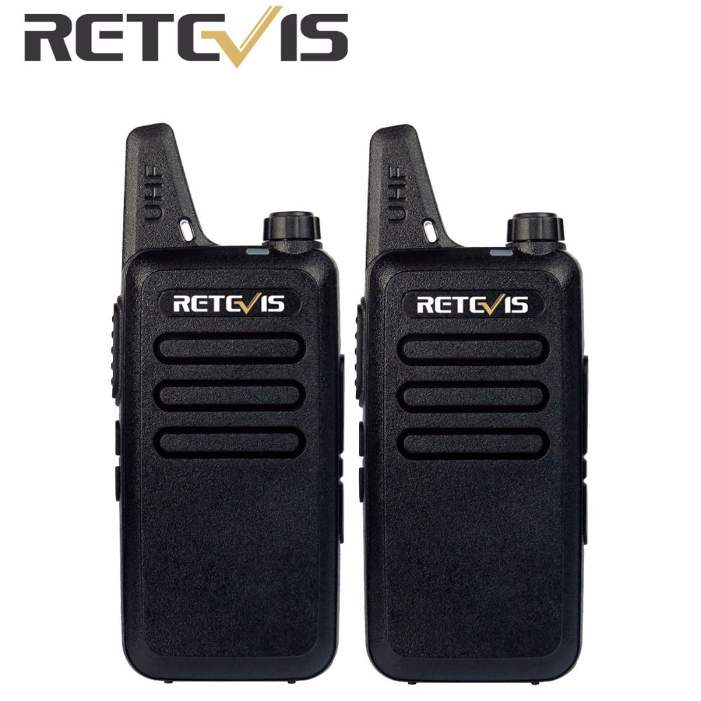 2pcs Retevis RT22 Walkie Talkie 2 Way Radio Portable 2W 16CH UHF 400-480MHz Hf Transceiver VOX Scan Handy Communicator A9121A