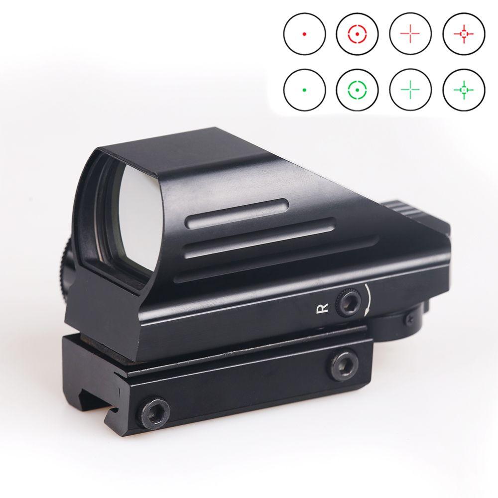 BIJIA réflexe tactique rouge/vert Laser 4 réticule holographique projeté point viseur portée Airgun vue chasse 11mm/20mm Rail Mount