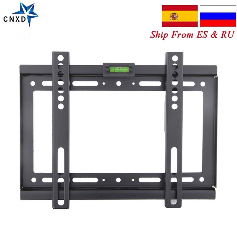Slim LCD LED Plasma fixe TV support mural 14 ~ 32 pouces Max VESA 200*200mm Super fort 88lbs capacité de poids