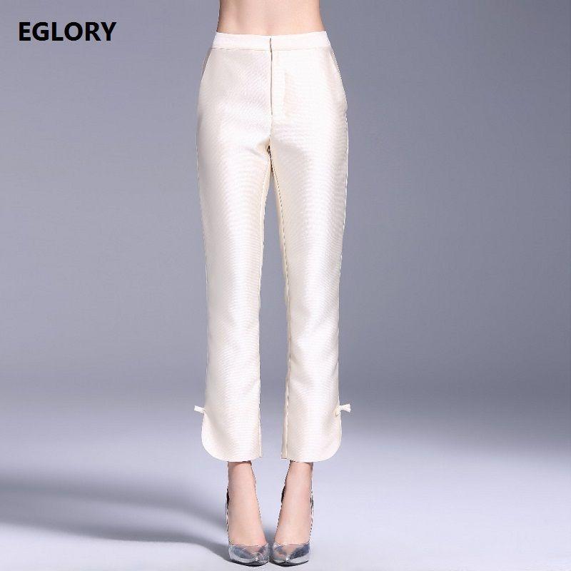Femmes Pantalon Pantalon Printemps 2018 Taille Haute Arc Scission Bas Vintage Femmes de la Mode féminine Mince Pantalon XXXL Pantalon maigre