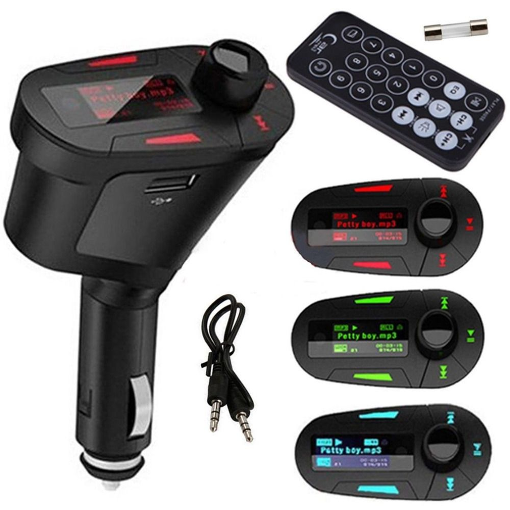 Car Kit MP3 Music Player Wireless FM Transmitter Radio Modulator With USB MMC+ Remote Control hot selling