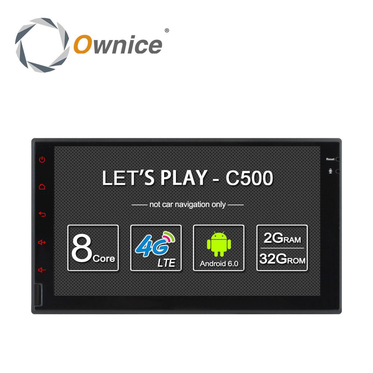 Ownice C500 Octa 8 Core Android 6.0 2G RAM 32 GB ROM Soutien 4G LTE SIM Réseau De Voiture GPS 2 din Universel voiture Radio lecteur aucun dvd