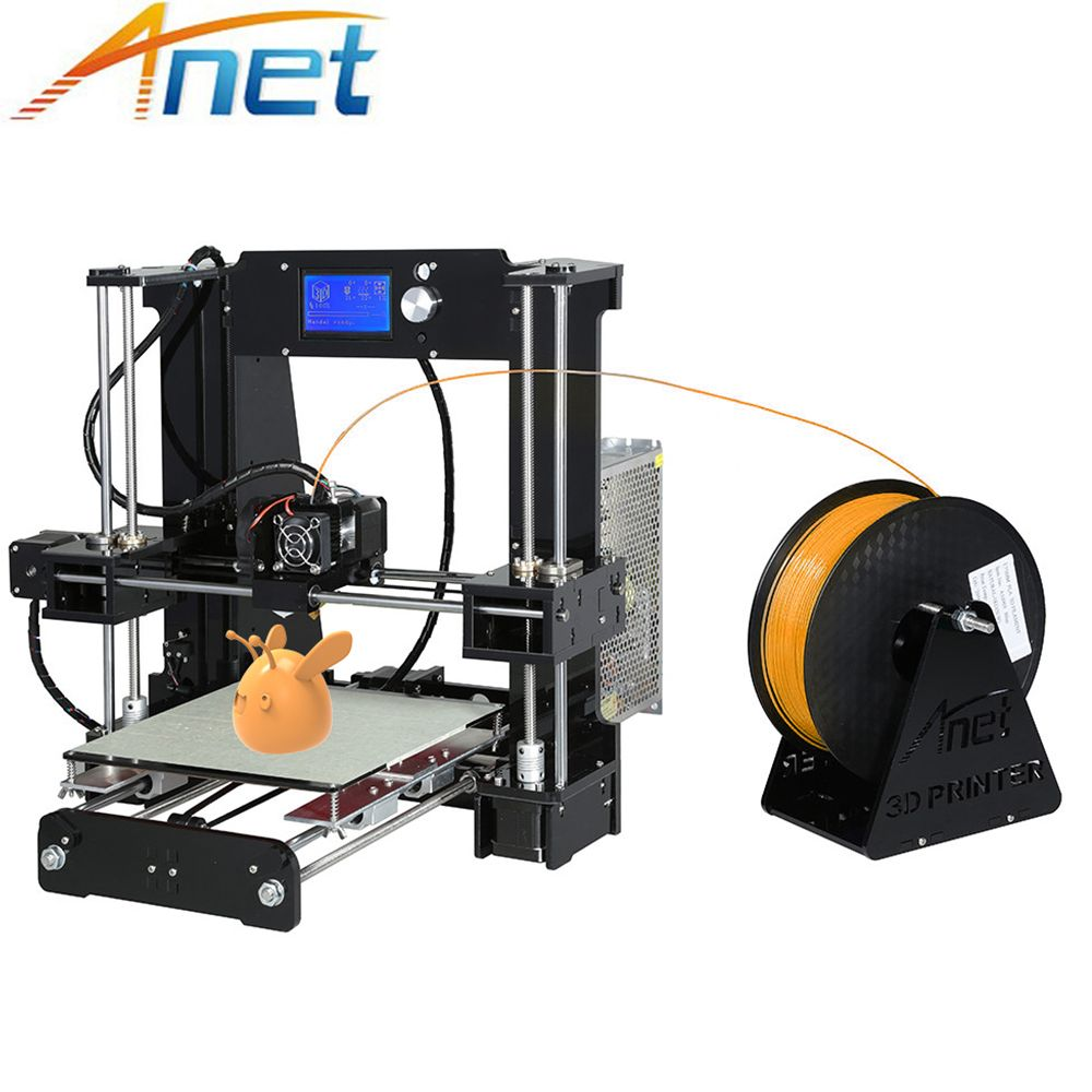 Anet 3D Printer Auto Level&Normal A8 A6 Easy Assemble Large Size Reprap i3 3D Pritner DIY Kit with Filament 8G SD Card