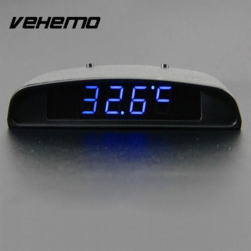 Vehemo 3 In 1 Car Auto Digital Clock Time Thermometer Temp Volt Voltage Monitor Meter