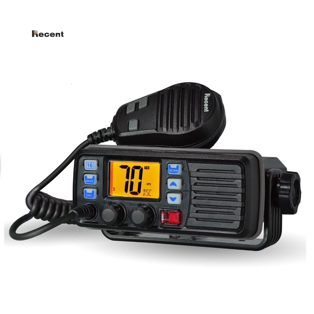 RECENT RS-507M VHF Mobile Marine Radio Float DSC Call Auto-answer Built-in DSC MMSI Code 156.025-157.425MHz Boater Transceiver