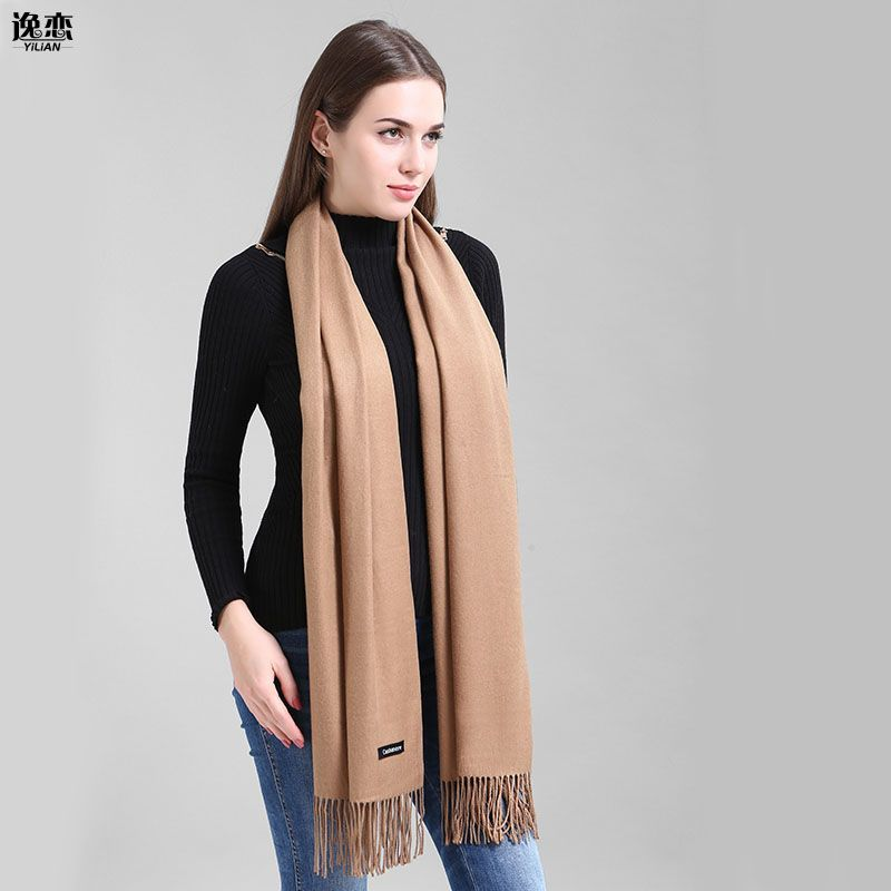YI LIAN Brand Cashmere Scarf Women Not Hail Loss Top Quality Newest <font><b>Smooth</b></font> Warm Winter Scarf YL-001