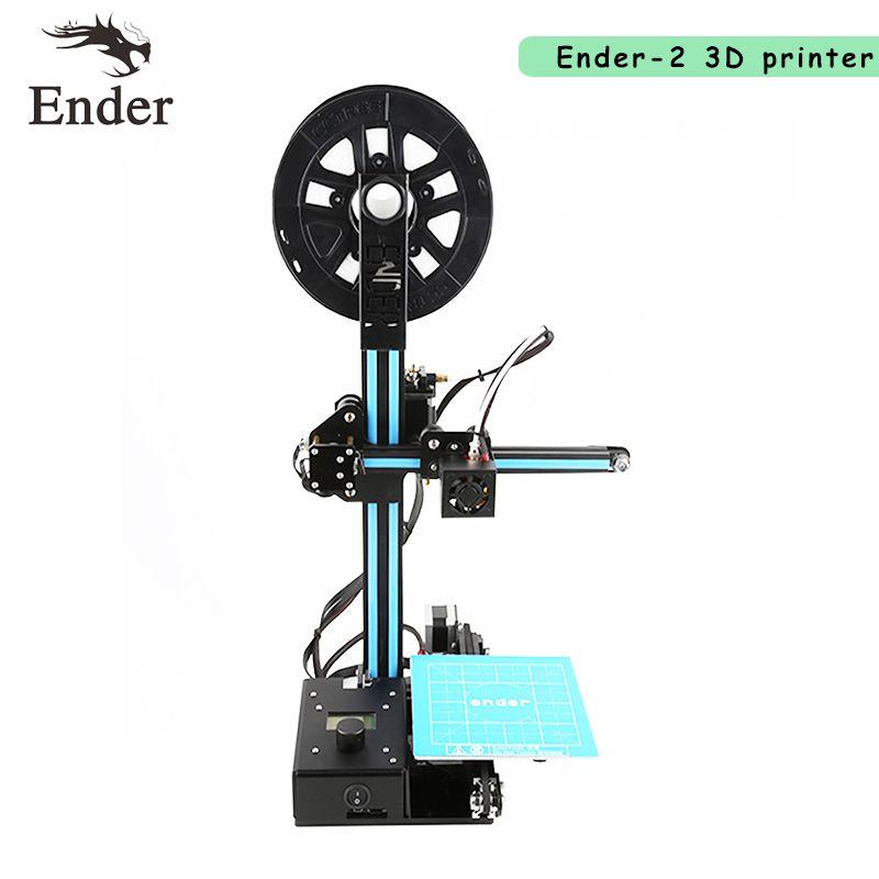 Imprimante 3D Ender-2 Reprap prusa i3 Full metal cadre Mini Creality bureau 3D imprimante BRICOLAGE Kit Machine n 5 M Filament + 8G SD carte