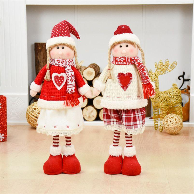 Natal Gift Christmas Baby Girl Toys Christmas Tree Decoration Desktop Standing Dolls Navidad Decoraciones Para El Hogar Envio