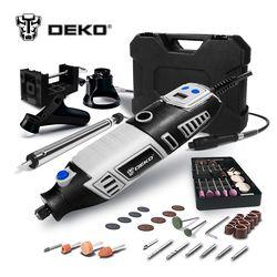 DEKO GJ201 LCD À Vitesse Variable Outil Rotatif Dremel Style Graveur électrique Mini Drill Grinder w/Arbre Flexible 3 Ensembles à choisir