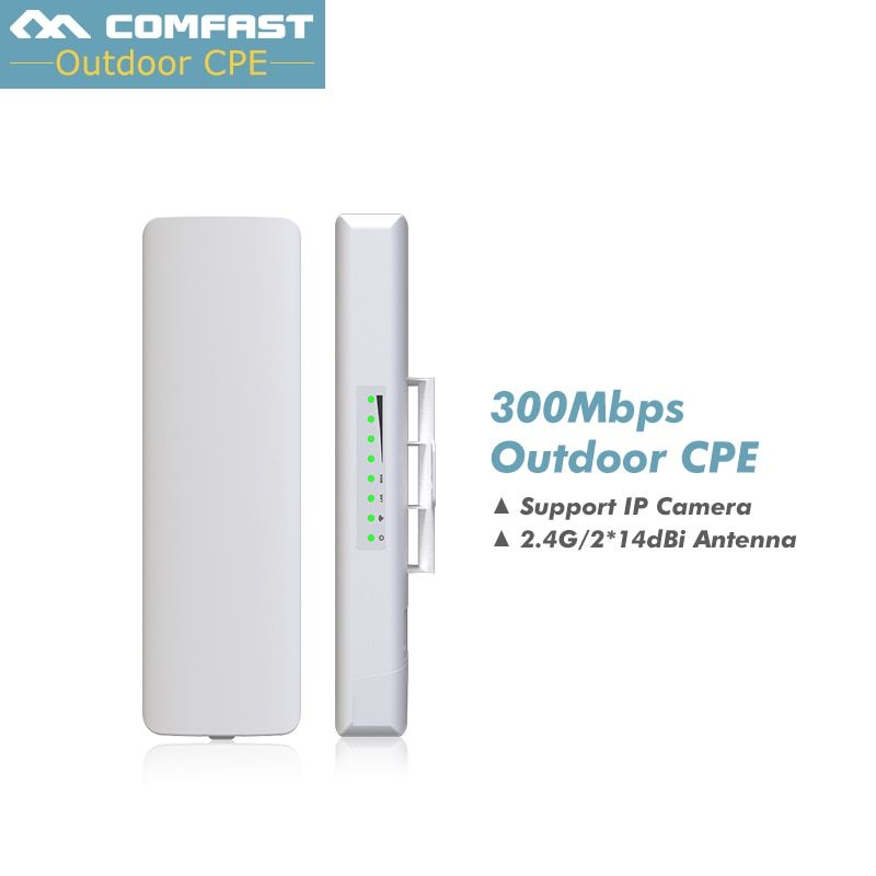 3-5KM Long Range Outdoor CPE WIFI 2.4GHz 300Mbps Wireless AP WIFI Repeater Access Point WIFI Extender Bridge Client WIFI Router