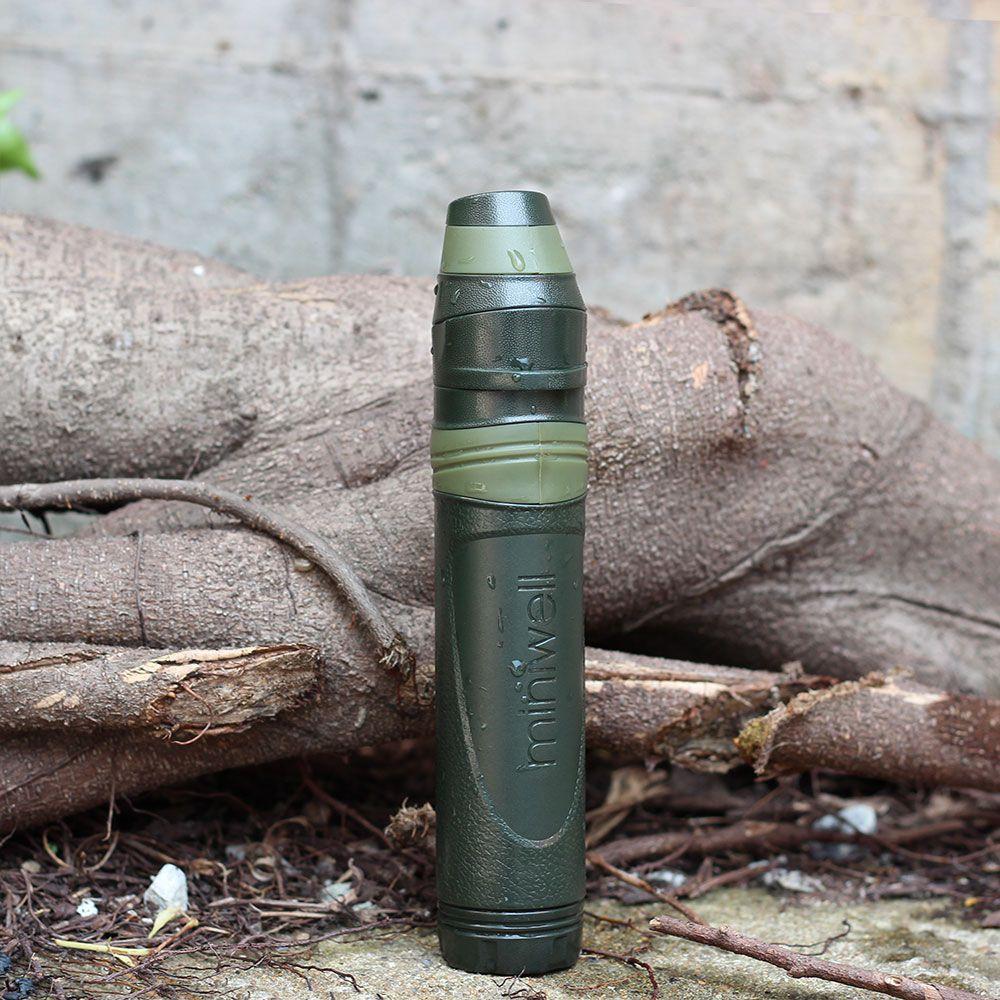 Survie en plein air Camping équipement militaire mini filtre à eau eau extérieur portable filtre à paille