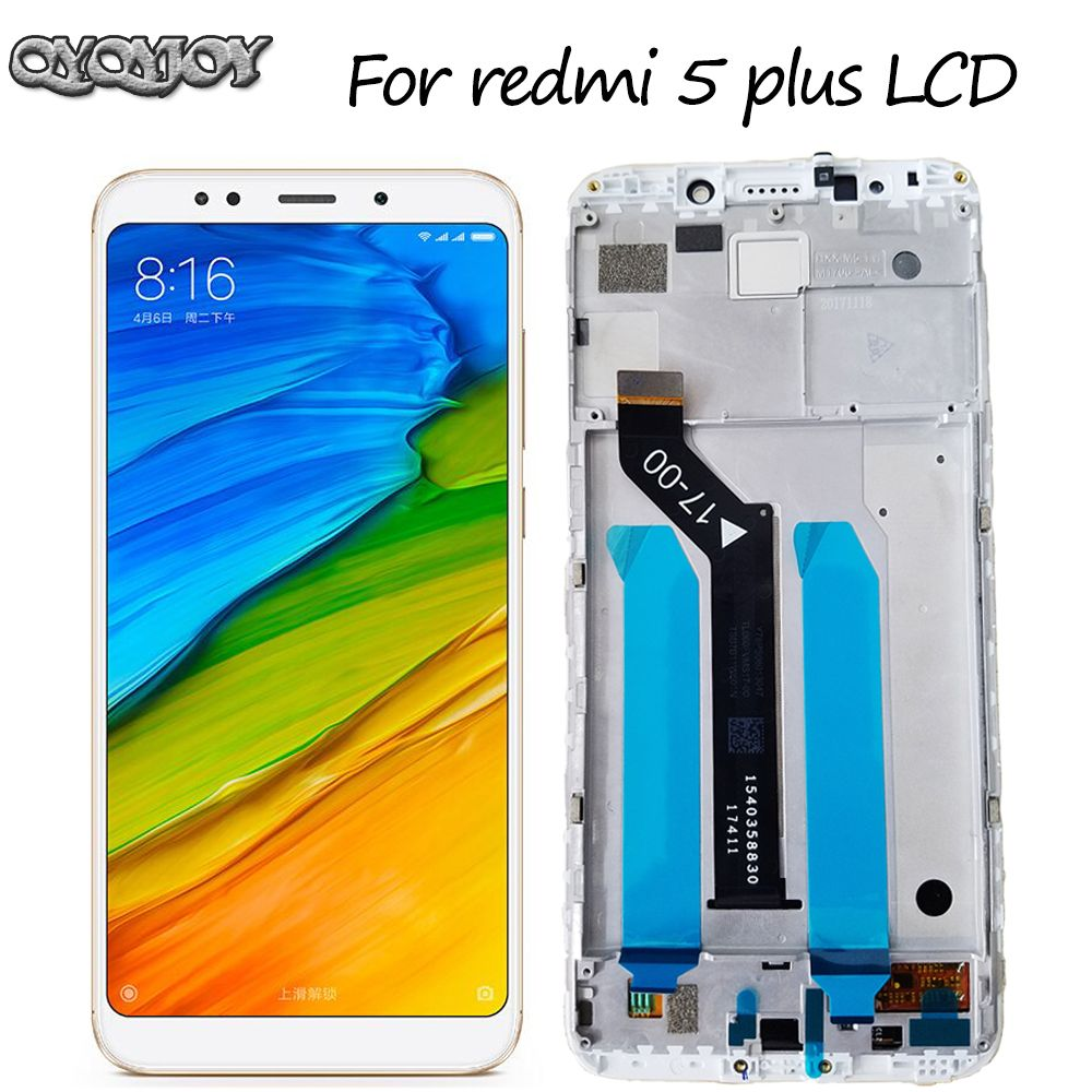 Original LCD For Xiaomi Redmi 5 Plus LCD Display Digitizer Touch Screen Assembly Frame Redmi Note 5 Global Version LCD Screen