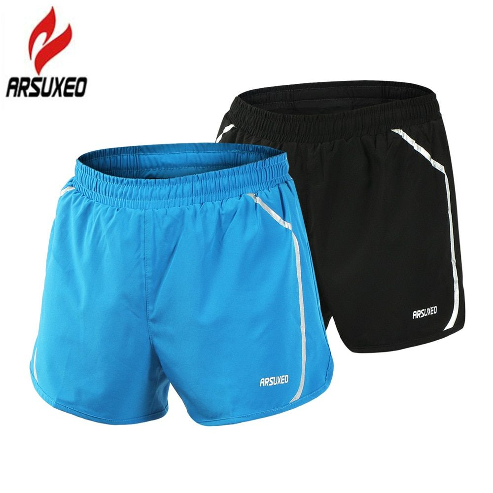 ARSUXEO 2017 New Pro Quick Dry Men's Running Shorts Men 2 In 1 Marathon Gym <font><b>Fitness</b></font> Training Sport Shorts with Zipper Pocket