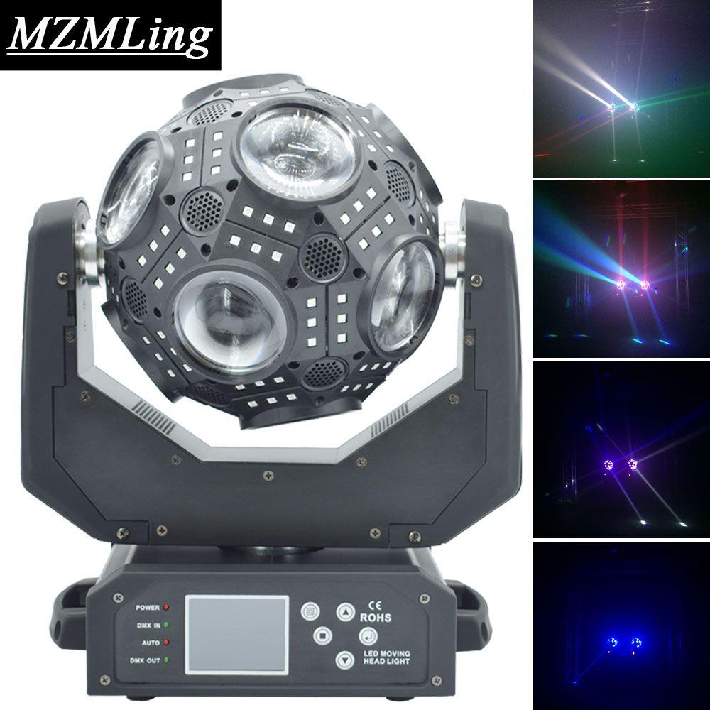 Обновление 12x20 Вт RGBW 4in1 светодиодный луч света дополнительные 180 шт. RGB 3in1 Футбол перемещение головного света DMX512 DJ/бар/партия/шоу/свет этапа