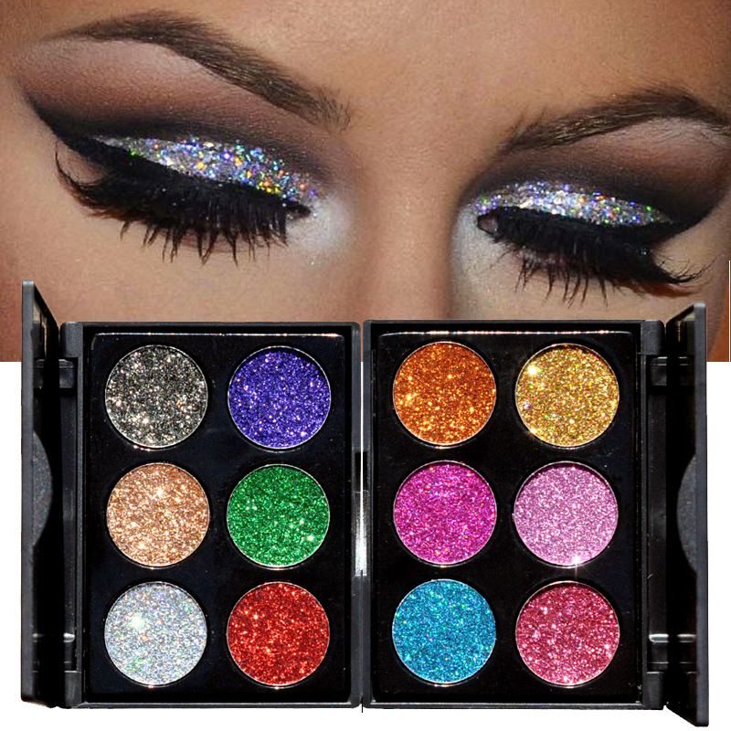 HANDAIYAN Brand Diamond Golden Color Powder Glitter Eye Shadow Palette Shiny Eyeshadow Palette Makeup To Faced Cosmetics