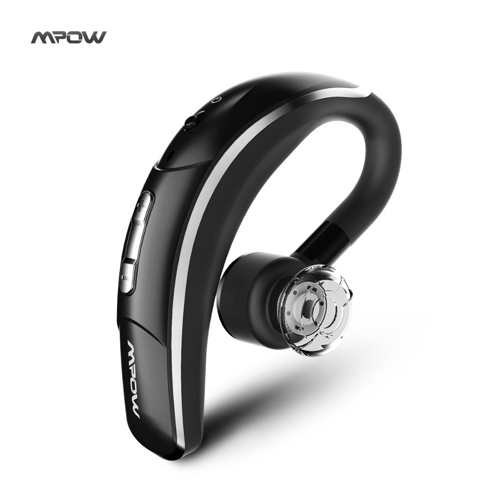 New Mpow Wireless Bluetooth 4.1 Headset Headphones with CSR chip Clear Voice Capture Tech microphone <font><b>handsfree</b></font> single ear phone