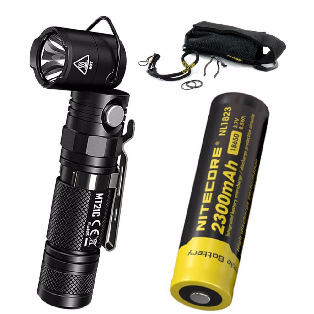 NITECORE MT21C 1000LMs Multi-functional 90Degree Adjustable Flashlight Portable Diecast Torch with 2300mAh battery