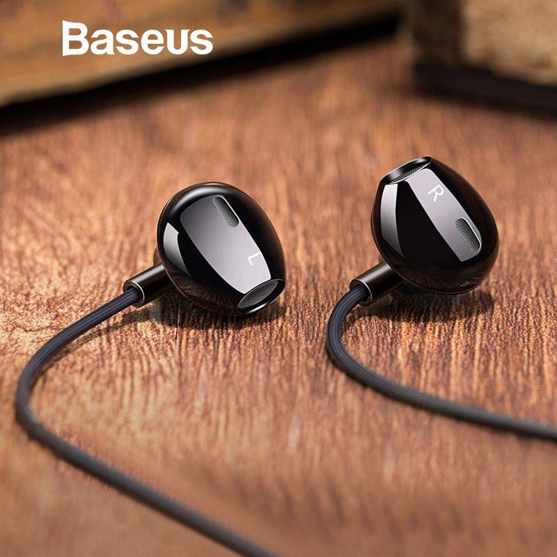Baseus H06 In-Ear Stéréo Basse Écouteurs Casque 3.5mm jack filaire contrôle HiFi Écouteurs Casque pour iPhone Xiaomi Mobile Téléphone