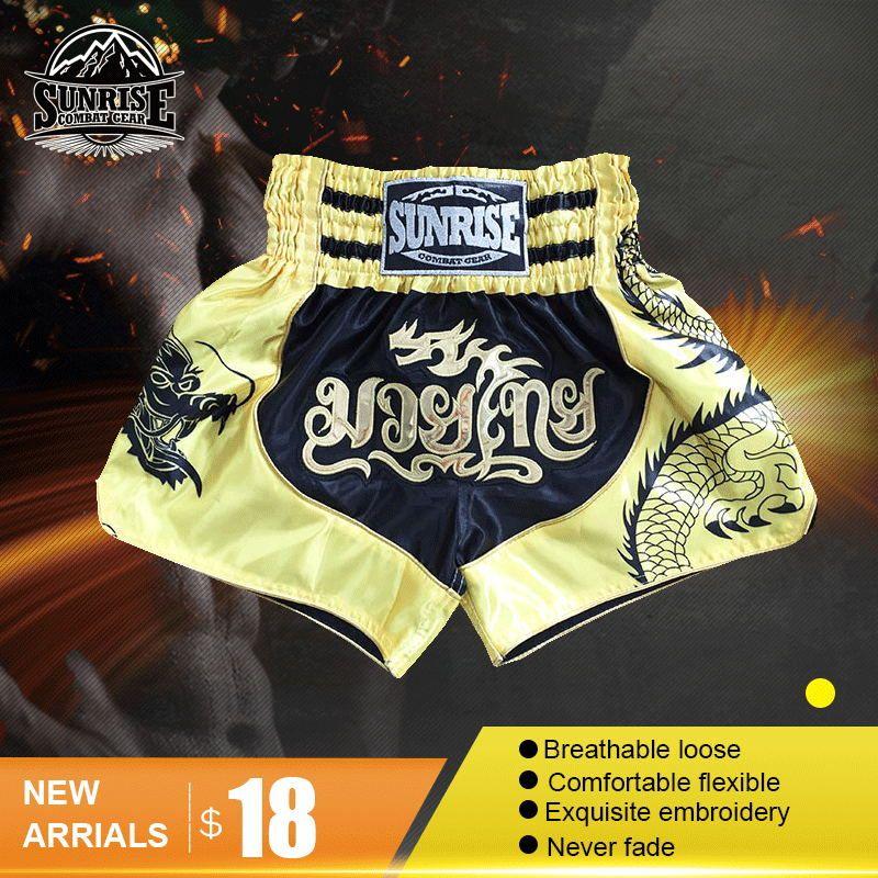 Sunrise MMA Shorts New ReleaseMens Muay Thai Shorts Boxing Shorts