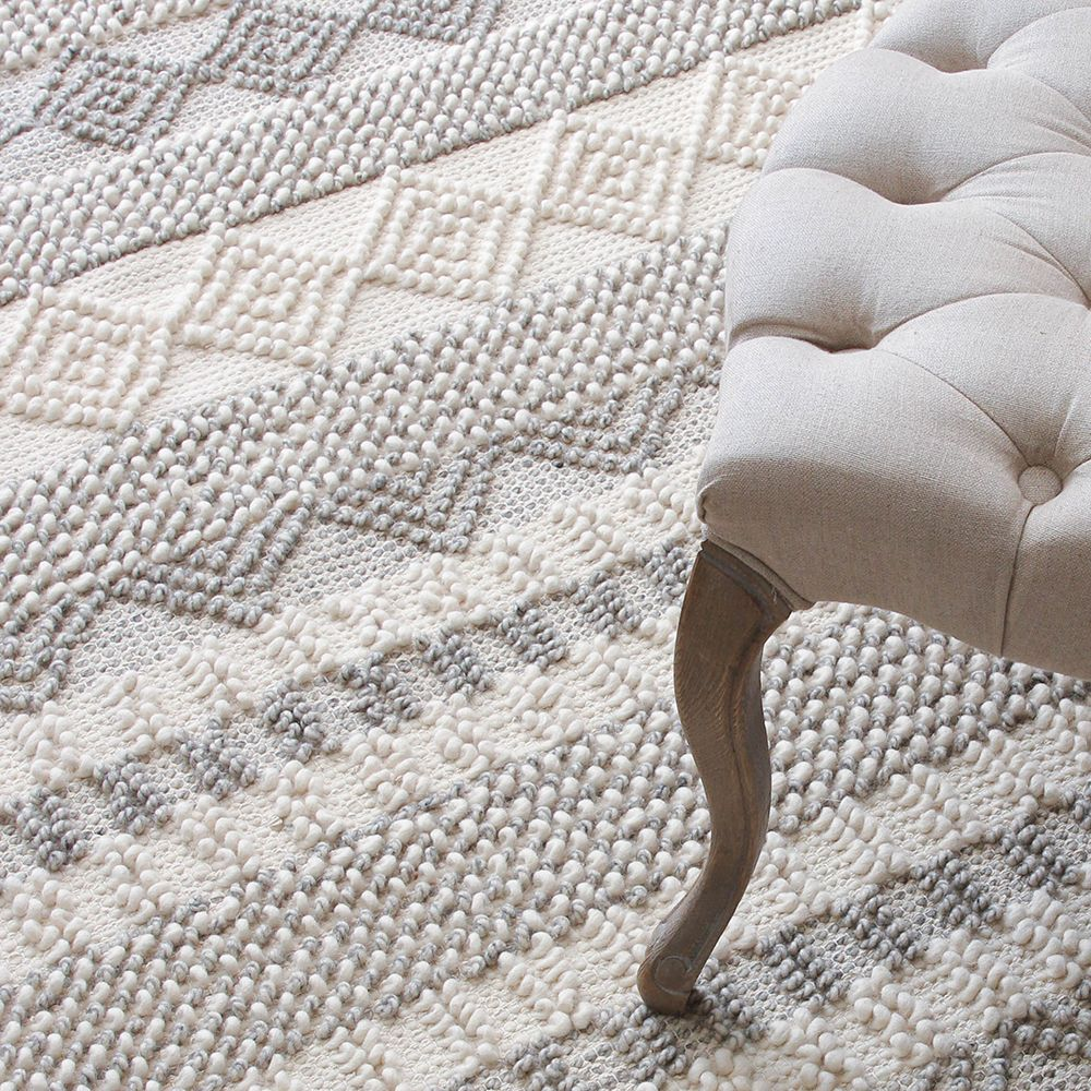 kilim 100% wool handmade Carpet geometric Indian grey persian chic Rug striped Modern contemporary design chic Nordic style