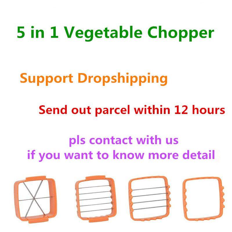 VIP Quick 5 en 1 hachoir à légumes en acier inoxydable hachoir à légumes trancheuse à légumes Cutter pour concombre de champignons KC1067