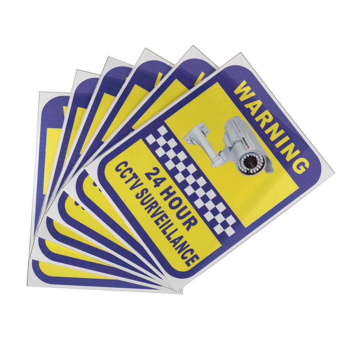 NEUE Safurance 6 Paket Hause Cctv-überwachung Überwachungskamera Video Aufkleber Warnung Aufkleber Zeichen Sicherheit