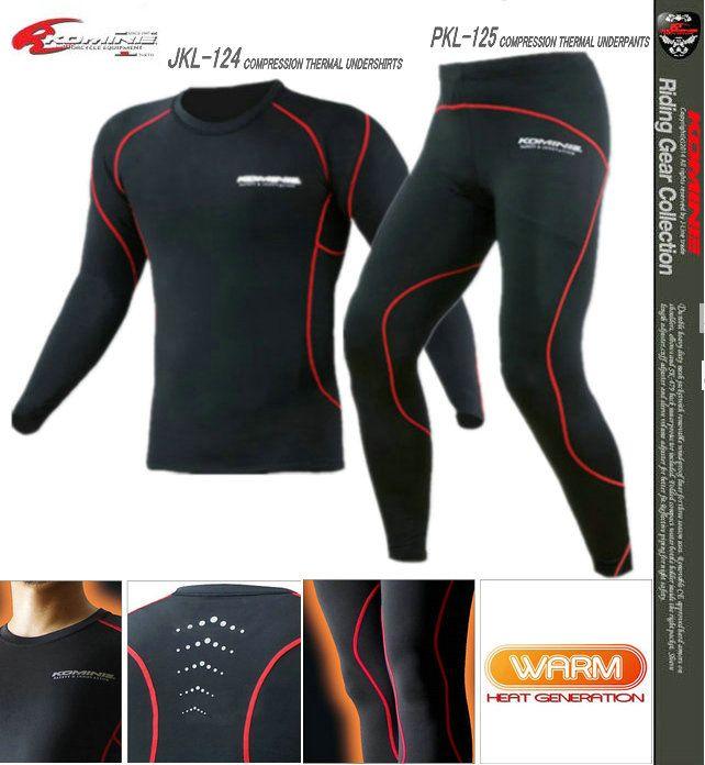 KOMINE JKL-124 compression thermal undershirts PKL-125 compression thermal Underpants Motorcycle Sweat thermal underwear