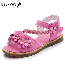 2018 Nouveaux Enfants Filles D'été Chaussures Enfants Sandales pour Filles PU En Cuir Fleurs Princesse Chaussures Filles Sandales CSH359