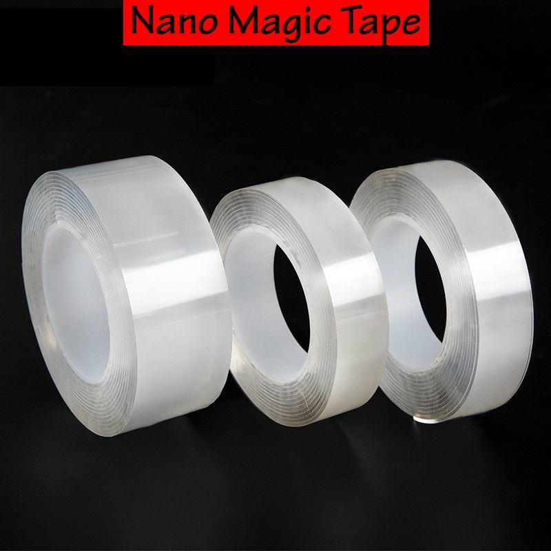 1m 3m 5m Waterproof Double Sided Adhesive Nano Tape Removable Sticker Magic Strong Tape Indoor Outdoor Household Tool