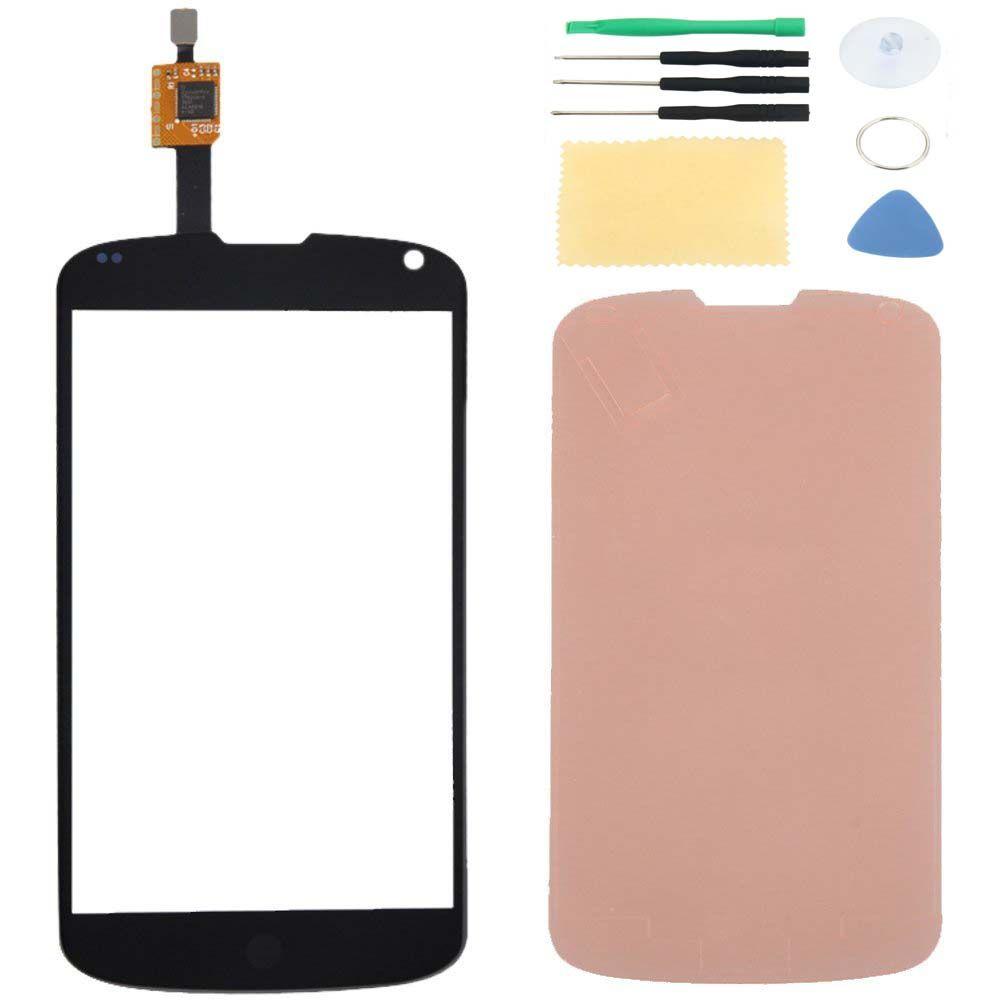 Pour LG Nexus 4 E960 écran tactile numériseur capteur panneau de verre lentille de remplacement et ruban adhésif + outils gratuits avec numéro de suivi