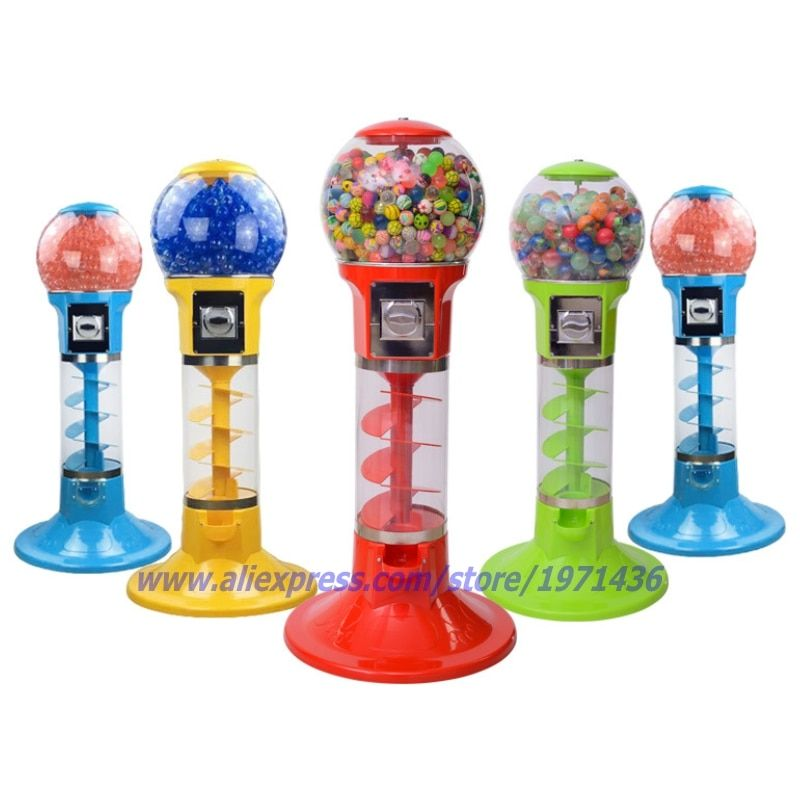 Mini Coin Operated Games Gumball Capsule Toy Spiral Vending Machine