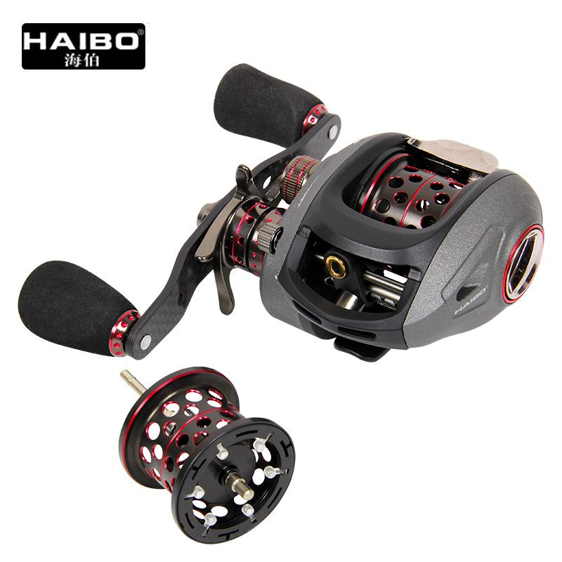 Haibo SMART Full Metal Baitcasting Reel 13BB Double Drag Fishing Reel Right/Leftwith Spare Spool