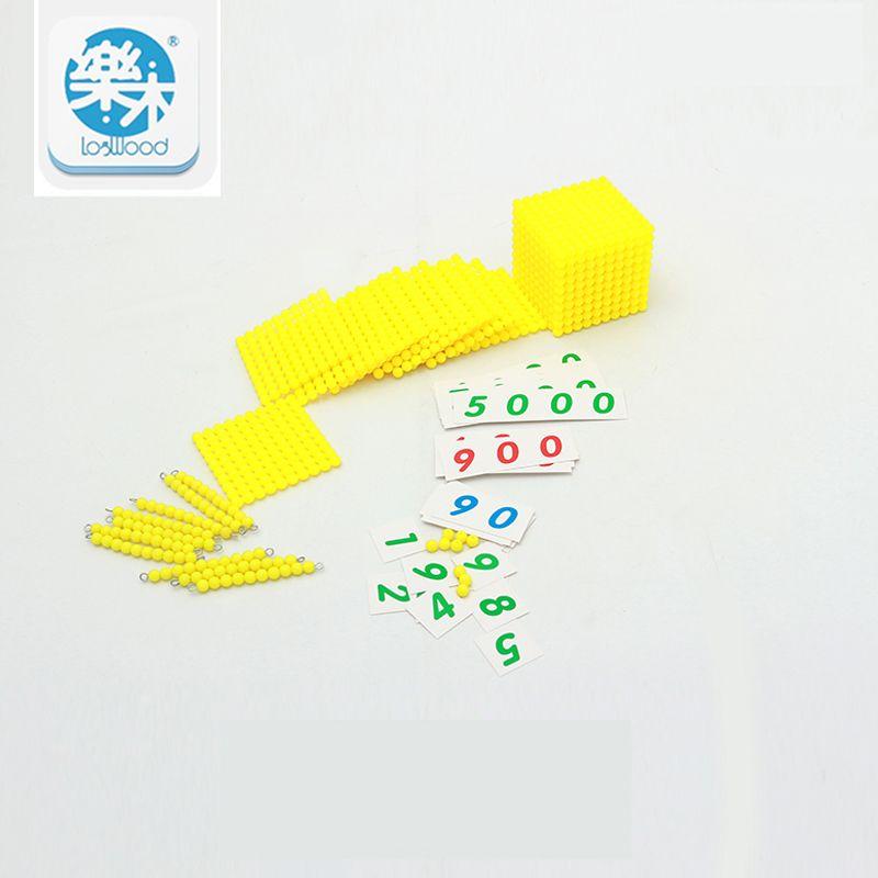 Montessori Enfants Jouet Bébé décimal base Banque Jeu Ensemble Mathématiques Formation pour L'apprentissage Précoce de L'éducation Préscolaire Brinquedos Juguets