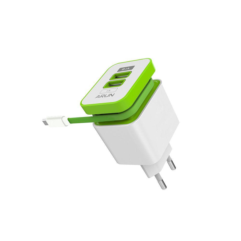 ARUN Smart Mobile Téléphone Double USB port Adaptateur Voyage Rapide USB Compatible Chargeur Pour iPhone7 Samsung S6 Smart Téléphones/PC US EU
