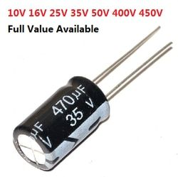 5 pcs 6.3 v 10 v 16 v 25 v 35 v 50 v 400 v 1000 uf 1500 uf 2200 uf 3300 uf 4700 uf 680 uf 1 uf 2.2 uf 3.3 uf condensateur électrolytique en aluminium