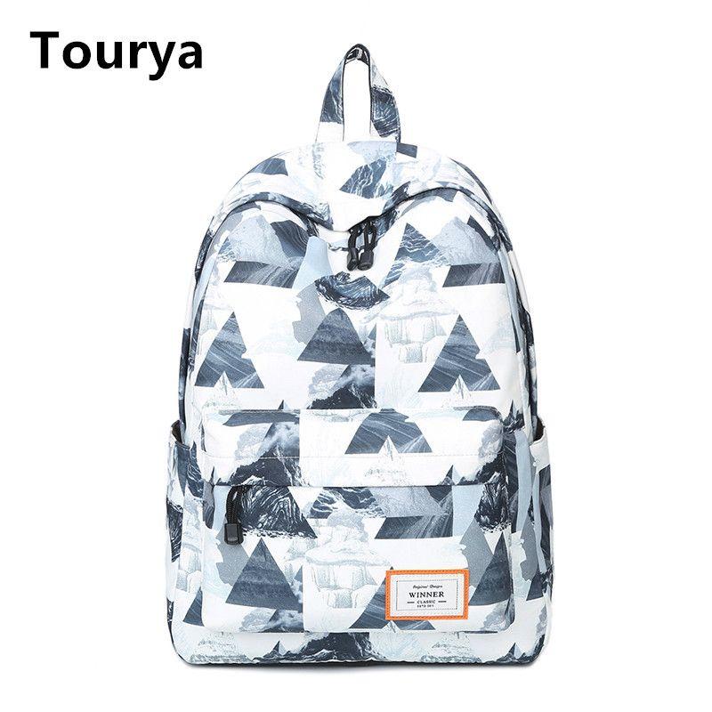 Tourya Повседневное Для женщин рюкзак школьный Рюкзаки Сумки рюкзак для подростков Обувь для девочек ноутбук backbag путешествия рюкзак Mochila Feminina