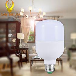 Lampu LED Yang Kuat Bohlam E27 5 W 10 W 15 W 20 W 30 W 50 W Lampu Hemat Energi 220 V Ampul Bombillas Lampu LED untuk Penerangan Rumah Putih