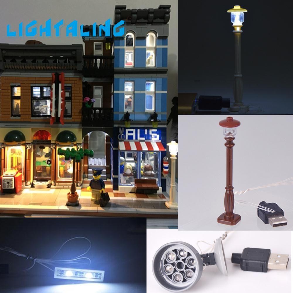 Lightaling со светодиодной подсветкой комплект для создатель Совместимость с известным брендом 10246 Конструкторы модель Игрушечные лошадки комп...
