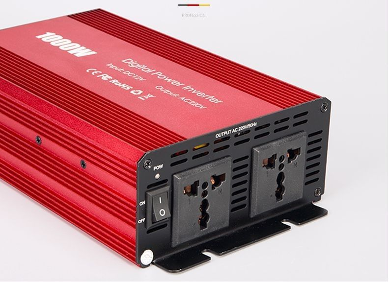 1000W 12V To 110V US  Inverter Car Power Converter With Anti-reverse Protection