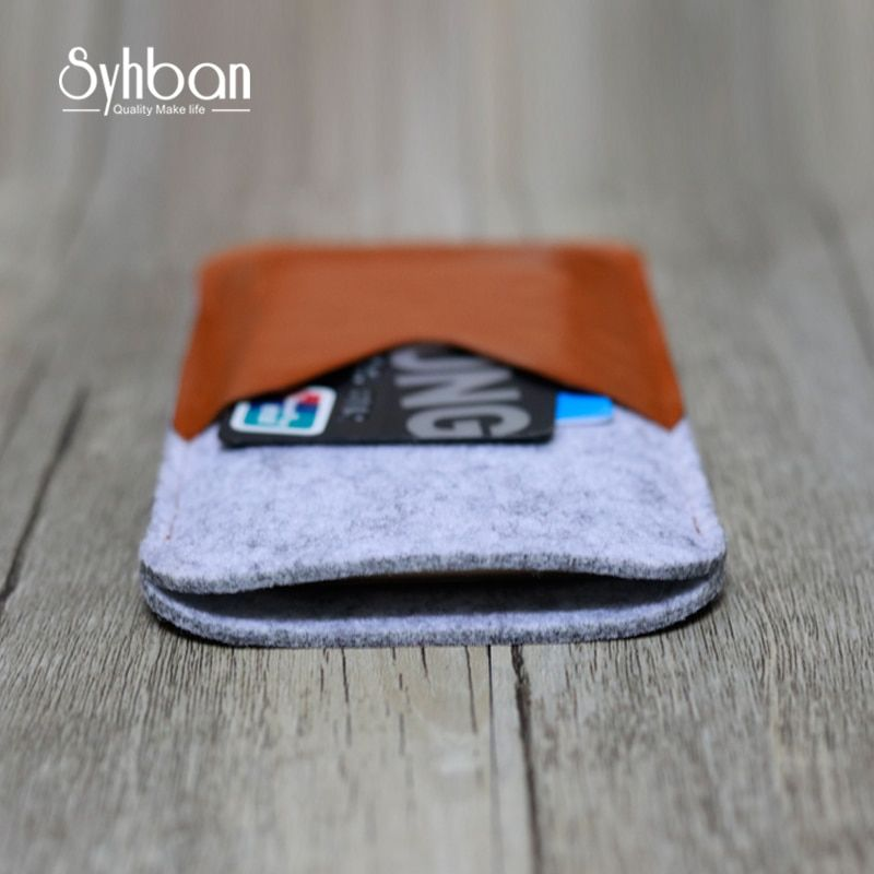 Syhban Wool Felt Case for iPhone 6 6S Ultra thick Phone Shell Cover Card Bags for Samsung S7 S6 NOTE 3 4 5
