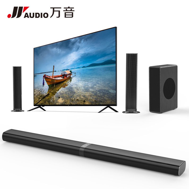 Q9+S2 Home Theater Sound System Soundbar TV 60W Bluetooth Speaker Support Optical AUX Coaxial TV Sound Bar And Subwoofer Speaker
