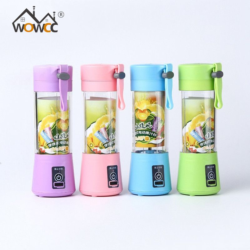 4 Colors Portable 380ml USB Electric Fruit Juicer Machine Blender Shake Handheld Smoothie Maker Rechargeable Juicer Water Bottle