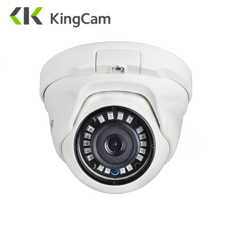 KingCam 2.8mm Lens Wide Angle Metal POE IP Camera 1080P 960P <font><b>720P</b></font> Security Outdoor ONVIF Network CCTV Surveillance Dome ipcam