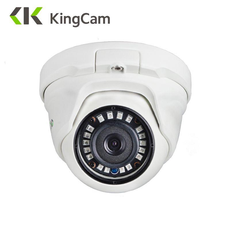 KingCam 2.8mm lentille grand Angle métal POE IP caméra 1080 P 960 P 720 P sécurité extérieure ONVIF réseau CCTV Surveillance dôme ipcam