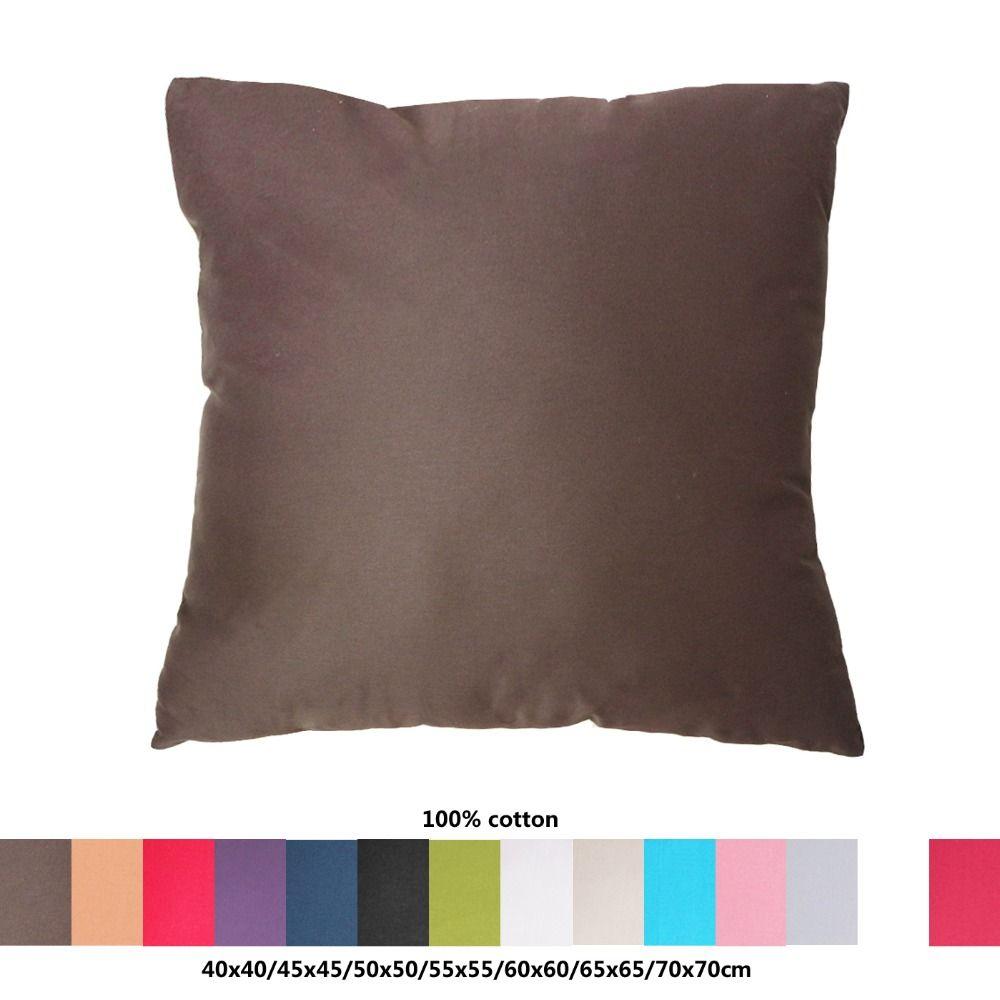 100% coton tissu canapé housse de coussin 40x40/45x45/50x50/55x55/60x60/65x65/70x70 cm taie d'oreiller décorative