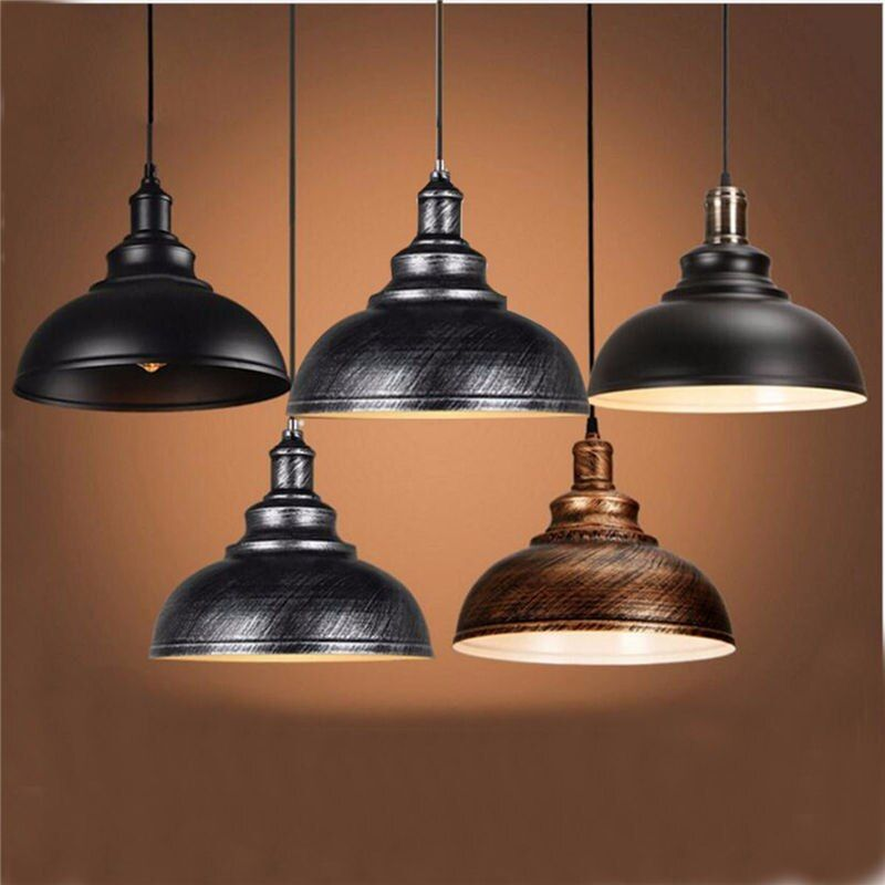 Vintage Edison Licht Abdeckung Lampenschirm E27 Industrie Retro Lampensockel Loft Eisen Pendelleuchten Halter Leuchte