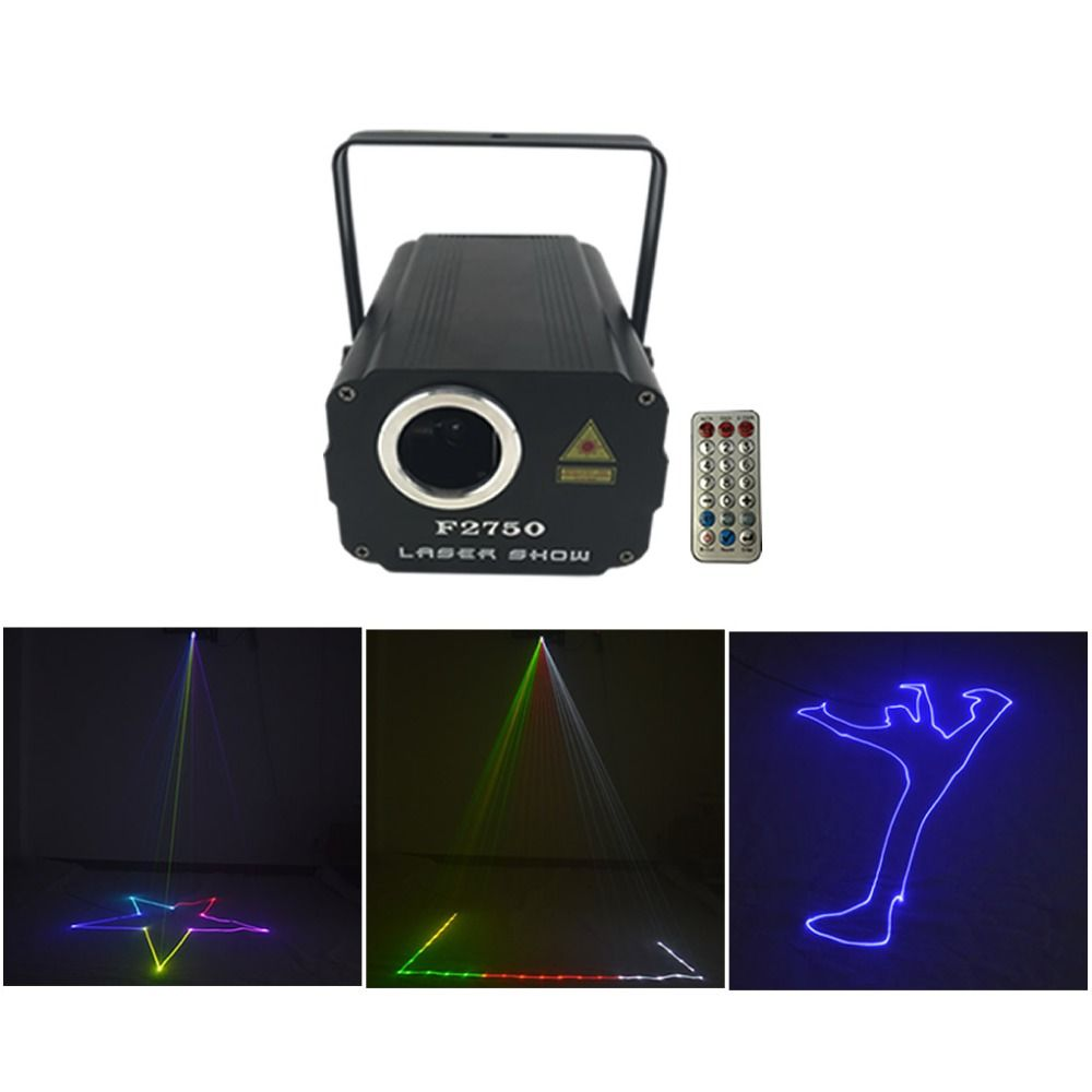 90-240V Mini 500wm RGB Animation Laser Projector Lights DJ Show Wedding KTV Party Home Stage Lighting Music Auto Lamp QF2750