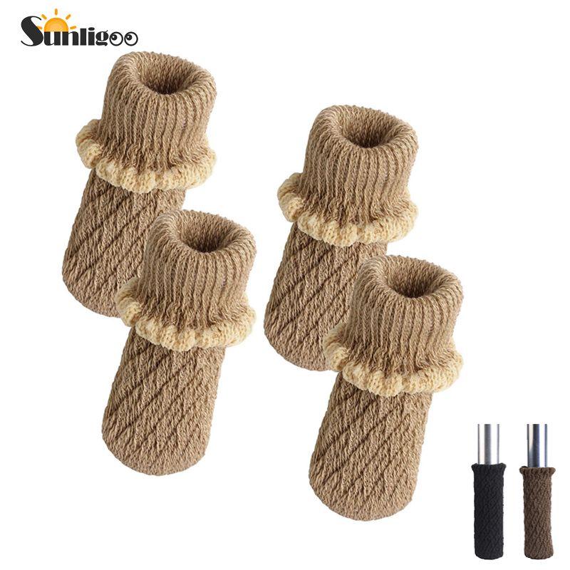 Knitting Wool Furniture Leg Socks Chair Table Leg Protector  Pads Chair Leg Floor Protectors
